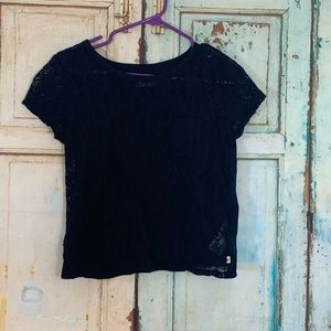 Hollister lace front tee shirt